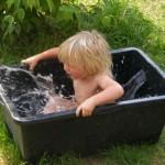 in der coolen Badewanne
