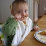 Ich kann schon mit einem Löffel essen